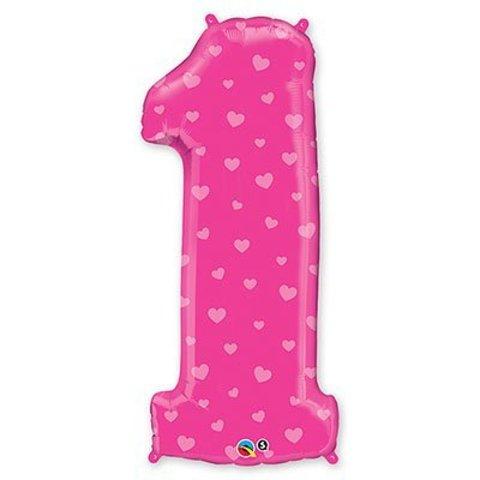 П ЦИФРА 1 Сердечки Pink