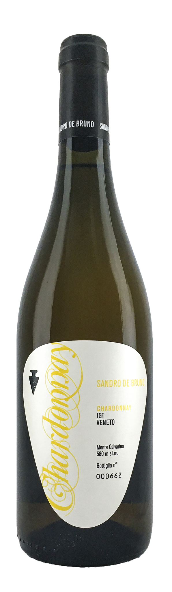 Вино Шардоне сухое белое, з.г.у. категория IGT, регион Венето 0,75л.