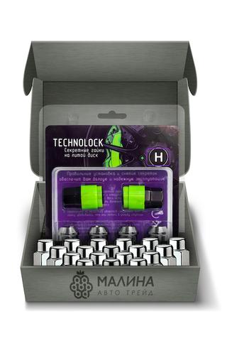 Готовый набор из колёсных гаек М12x1.5 и комплекта секреткок TECHNOLOCK H