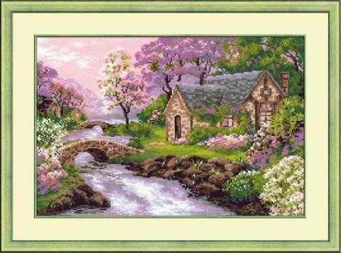 Набор для вышивания крестом «Весенний пейзаж» (1098)