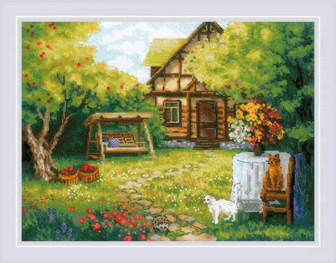 Набор для вышивания крестом «Загородный домик» (1845)