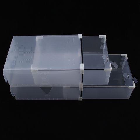 Набор из 12 пластиковых коробок 31*20*11 см для обуви до 42 размера