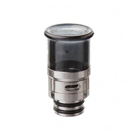 Drip-Tip SS+Glass Hybrid AFC 25.8 мм чёрный