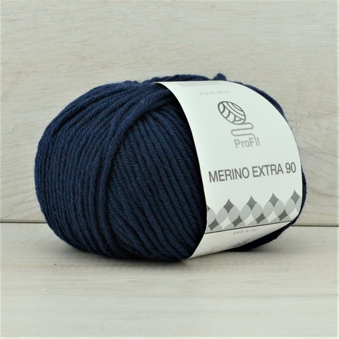 Пряжа Merino Extra 90 (Мерино экстра 90) Темно-синий