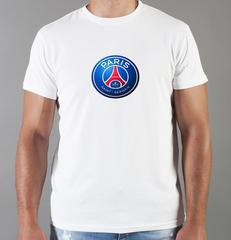 Футболка с принтом FC Paris Saint-Germain (ФК Пари Сен-Жермен) белая 002