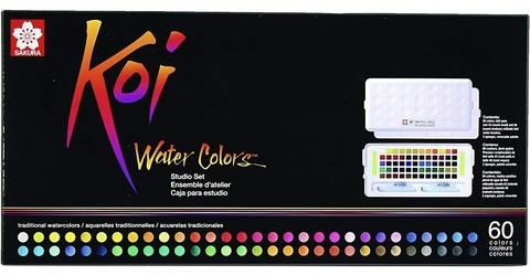 Набор акварельных красок Koi 60цв
