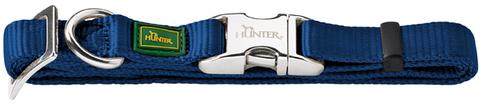 Ошейники Ошейник для собак Hunter ALU-Strong L (45-65 см) нейлон с металлической застежкой темно-синий 43959.jpg