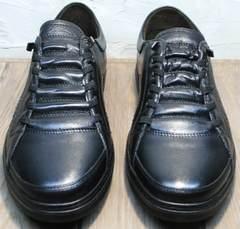 Туфли кроссовки повседневные мужские кожаные осень весна Novelty 5235 Black