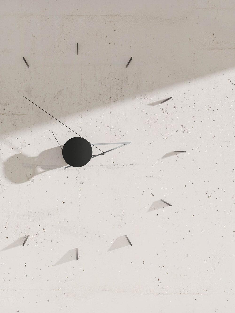 Beyond Object Настенные часы Silo Clock Silver