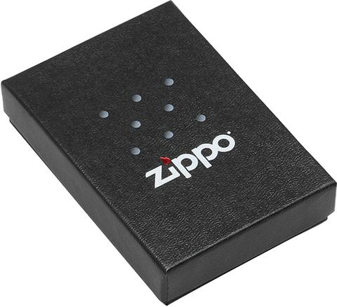 Зажигалка Zippo Mazzi с покрытием Black Matte, латунь/сталь, чёрная, матовая123