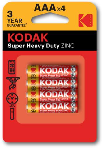 Батарейки Kodak R03, AAA (4/48) BL