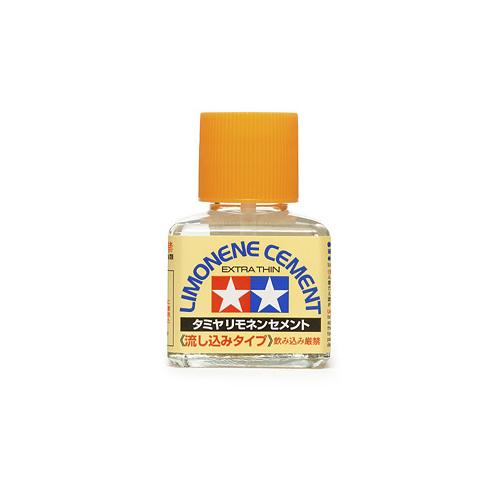 Клеи Tamiya Cement Limonene Extra Thin Клей с запахом лимона жидкий, с кисточкой 40 мл 87134_1.jpg