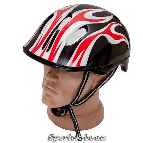 Велосипедний шолом для підлітків і дорослих, чорно-біло-червоний