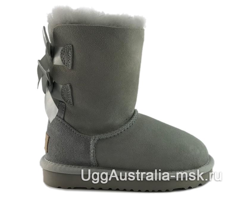 UGG Kids Bailey Bow II Gray - Violet