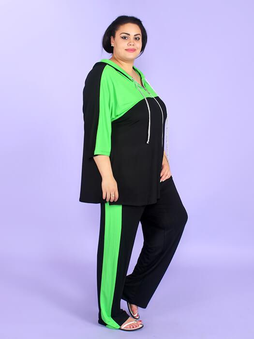спортивный костюм женский модный больших размеров турция