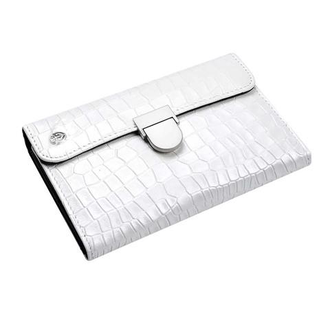 Маникюрный набор GD, 6 предметов, цвет белый, кожаный футляр