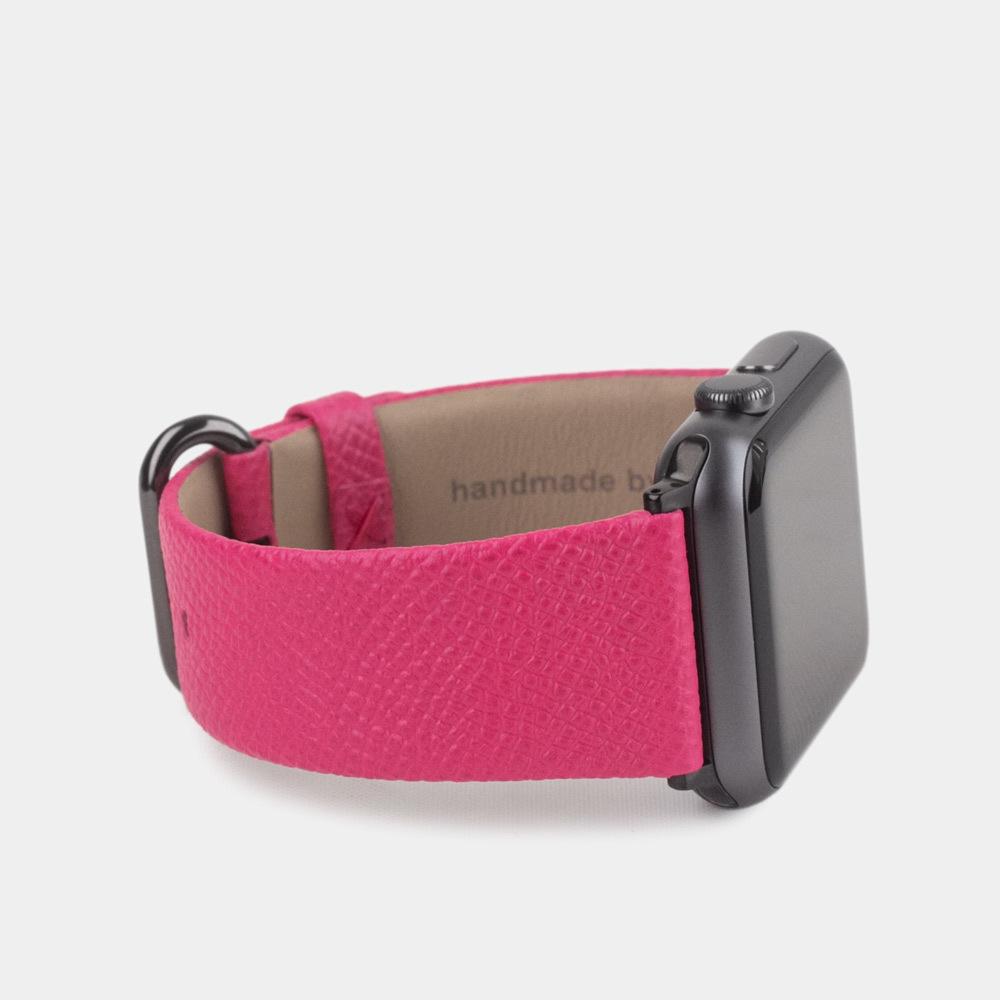 Ремешок для Apple Watch 42/44мм XL Classic из натуральной кожи теленка, темно-розового цвета