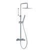 Душевая система с термостатом и тропическим душем для ванны AROLA 265403RK250 - фото №1