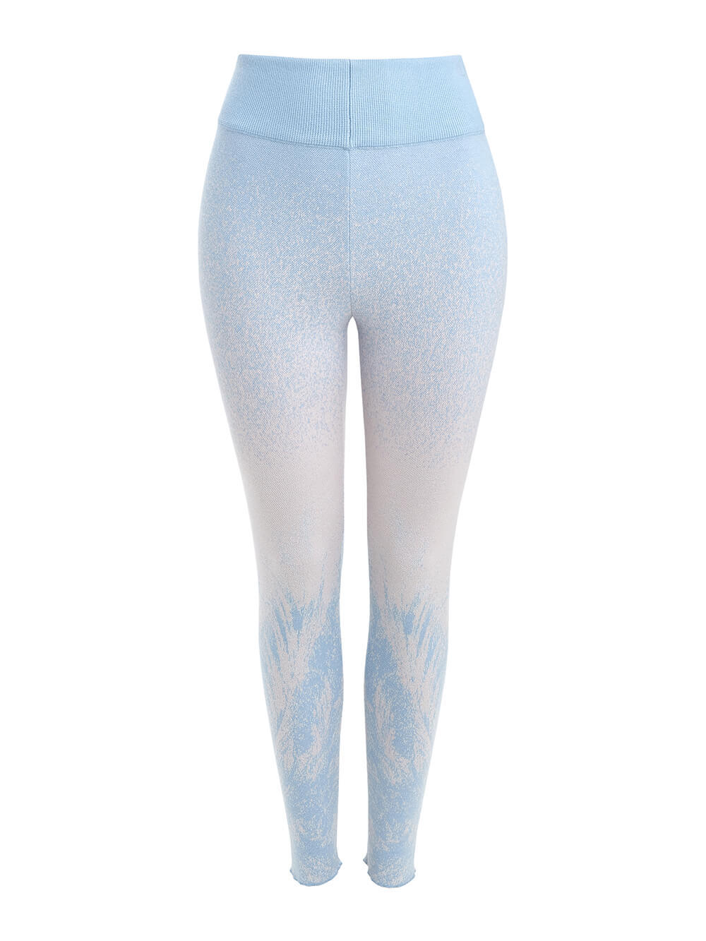 Женские брюки мультиколор из кашемира и вискозы - фото 1