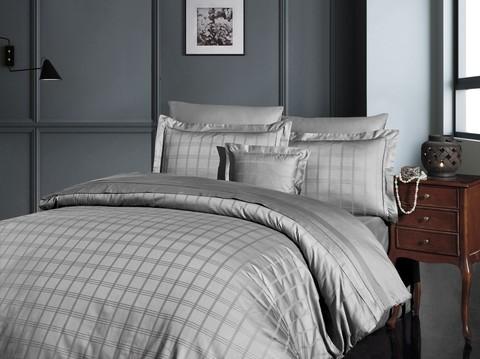 Комплект постельного белья DO&CO Сатин  жаккард  EXCLUSIVE 200*220 (50*70/2) (70*70/2) 250TC ELOY цвет серый
