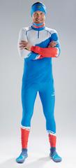Раздельный лыжный гоночный комбинезон NordSki Premium Blue Rus 2020