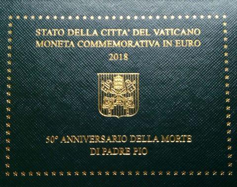 2 евро 2018 Ватикан - 50 лет со дня смерти святого Папы Пио