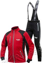 Утеплённый лыжный костюм RAY STAR Tour WS Red-Black мужской