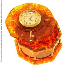 Шкатулка из янтаря Время