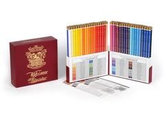 Набор художественных цветных карандашей POLYCOLOR RETRO 72 цвета в подарочном премиум-пенале в стиле 1й половины XX века
