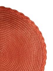 Комплект из 4-х круглых кухонных термосалфеток Dutamel плейсмат салфетка сервировочная диаметр 30 см - плетеная оранжевая DTM-029 окантовка косичка