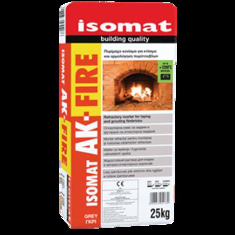Isomat AK Fire/Изомат АК Файер жаростойкий раствор для кладки и затирки огнеупорных кирпичей