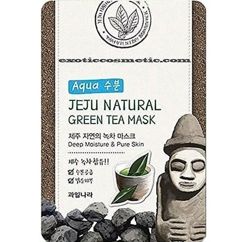 Маска для лица успокаивающая Jeju Nature's Green Tea Mask