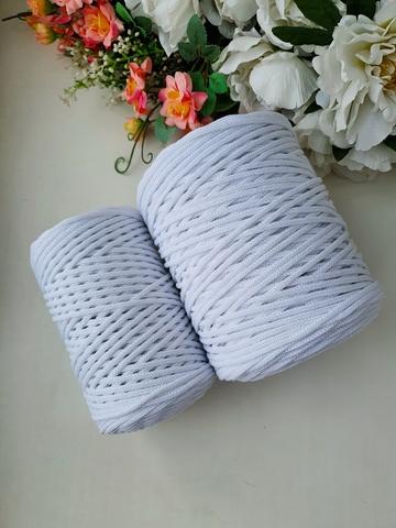 Белый  Хлопковый шнур 3 мм