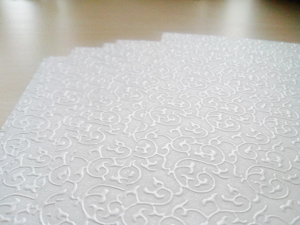 Бумага «Султан» с узором белая, 160 гр/м2