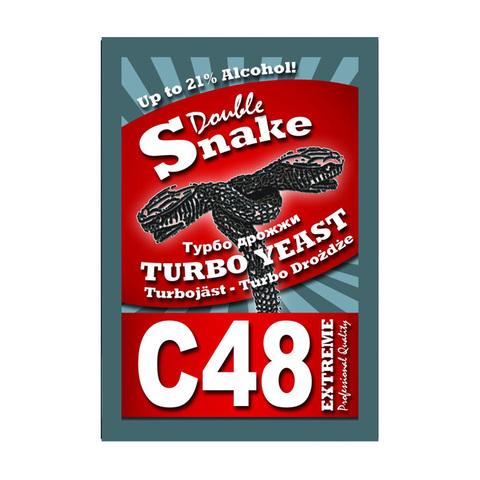Спиртовые дрожжи DoubleSnake C48 Turbo, 130 г
