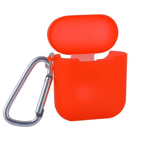 Чехол силиконовый COTEetCI (AP3) для AirPods с карабином (Красный)