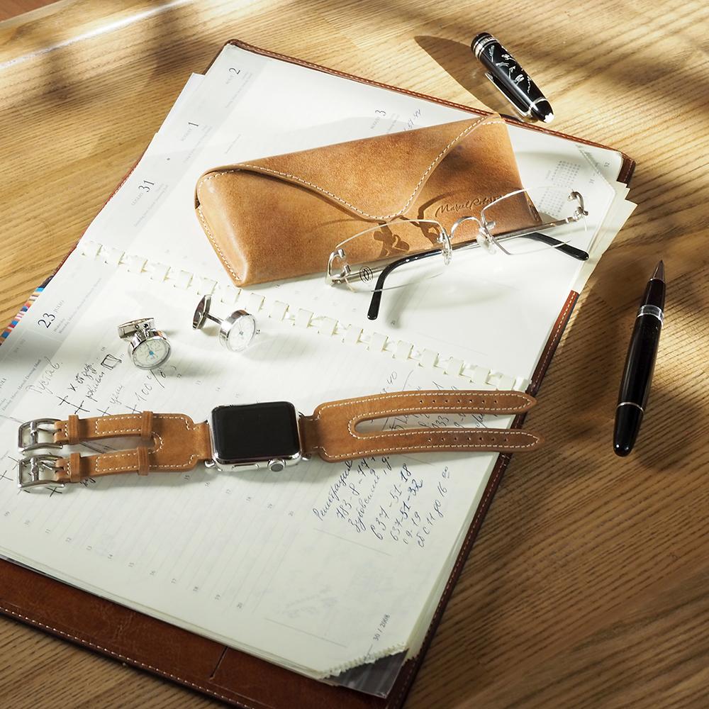 Футляр для очков Vision Easy из натуральной кожи теленка, цвета винтаж