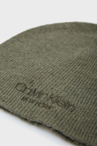 Мужская зеленая шапка BEANIE NO FOLD Calvin Klein