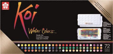 Набор акварельных красок Koi 72цв