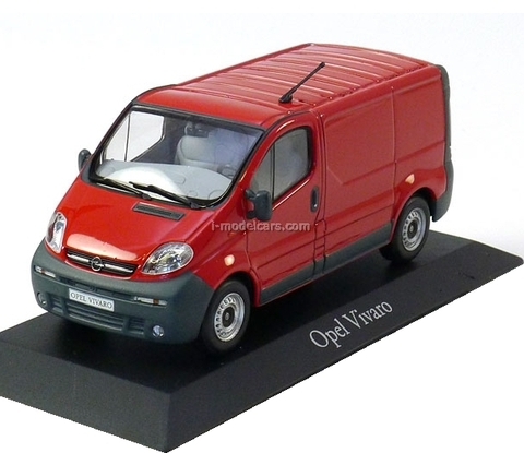 Opel Vivaro delivery van 2001 red Minichamps 1:43
