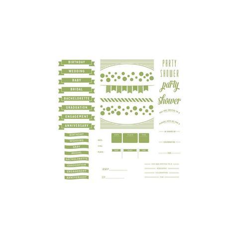 Формы для леттерпрессинга Lifestyle Letterpress Plates -  Whimsy Invite