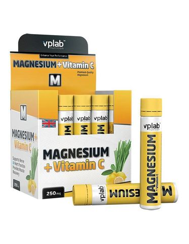 штучно ВПЛаб Магний + Витамин С 20амп х 25мл, лемонграсс