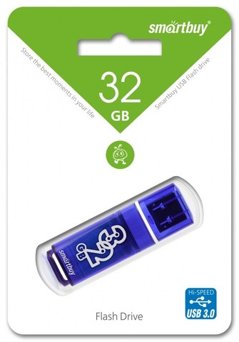 SmartBuy / 32GB USB Flash 3.0 серия Glossy | синий