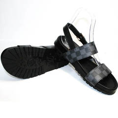 Модные мужские шлепки Louis Vuitton 1008 01Blak.