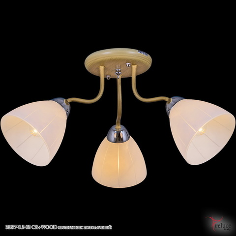 31677-0.3-03 CR+WOOD светильник потолочный