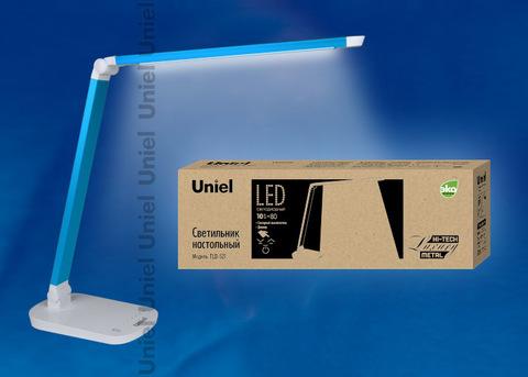 TLD-521 Blue/8W/Светильник настольный/LED/800Lm/5000K/Dimmer/Цвет-синий металлик