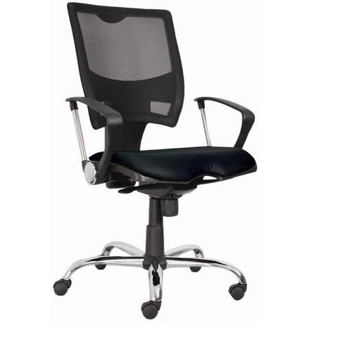 Кресло офисное Spring черное (ткань/сетка/пластик/металл)