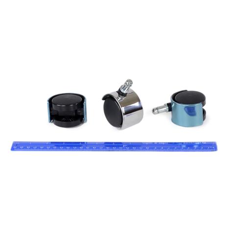Набор прорезиненных колес D-50mm хром (упаковка 5 шт) / штуцер d11 / для офисных кресел