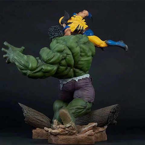 Халк против Росомахи поврежденная статуэтка