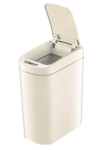 Умный мусорный бак Xiaomi Ninestars Waterproof Sensor Trash Can 7L Бежевый (DZT-7-2S)